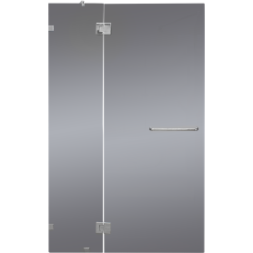 Душевая дверь «Классика» тонированная распашная 120x195 см