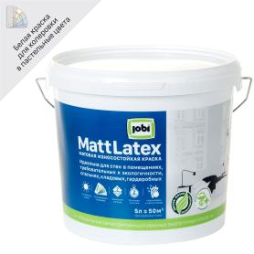 Краска для стен и потолков Jobi «Mattlatex», база А, 5 л