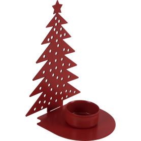 Подсвечник для чайной свечи «Ёлочка», цвет красный