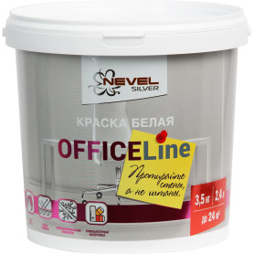 Краска для офиса Office Line износостойкая цвет белый 3.5 кг