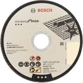 Диск отрезной по нержавейке Bosch, 125x1.6 мм