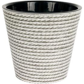 Горшок цветочный «Фиджи декор» D16, 1, 6л., пластик, Серый / Серебристый