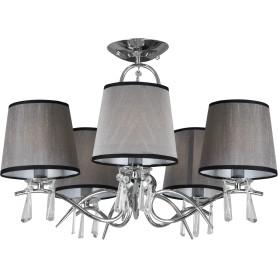 Люстра потолочная Eurosvet Morise 70048/5, 5 ламп, 16 м², цвет хром