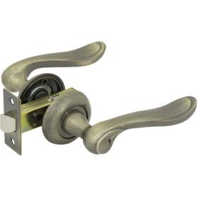 Комплект дверных ручек 17L 100 AB, без запирания, цвет античная бронза