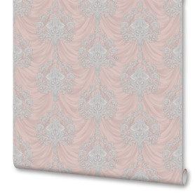 Обои флизелиновые Euro Decor Botticelli розовые 1.06 м 1157-07