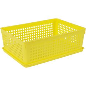Лоток с крышкой 270x190x90 мм, 3.7 л, цвет жёлтый