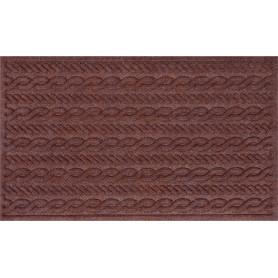 Коврик с нескользящей подложкой, 45х75 см, полиэстер, цвет коричневый