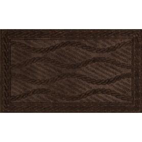 Коврик Eco Rib 45x75 см, полиэстер, цвет тёмно-коричневый
