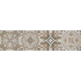 Керамогранит «Патч» 60x15 см 1.36 м2 цвет серый