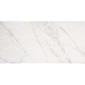 Плитка настенная Marble «Гексо» 60x30 см 1.62 м2 цвет белый матовый