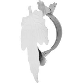 Клипса «Лист», металл, цвет белый