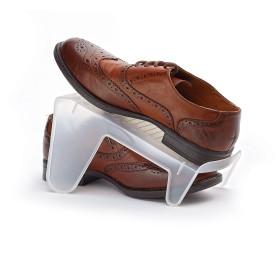 Органайзер для обуви 130х245х140 мм пластик цвет прозрачный