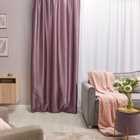 Штора на ленте «Taffy Bohemia 4», 140х260 см, однотон, цвет фиолетовый
