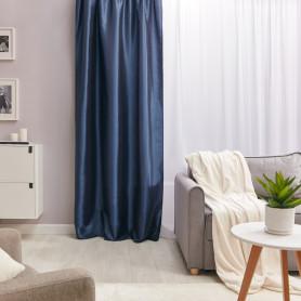 Штора на ленте «Taffy Saphir 1», 140х260 см, однотон, цвет синий