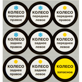 Наклейка «Шиномонтаж» 100х100 мм полиэстер