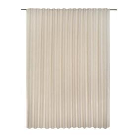 Тюль на ленте Amina Trench, 300х280 см, однотонный, цвет бежевый