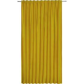 Штора на ленте со скрытыми петлями Tony 200x280 см цвет желтый