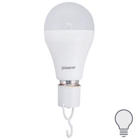 Лампа светодиодная Gauss A60 E27 8 Вт груша 490 лм белый свет, с литий-ионным аккумулятором