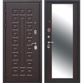 Дверь входная металлическая Сенатор 12 см, 960 мм, левая, цвет зеркало венге