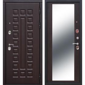 Дверь входная металлическая Сенатор 12 см, 960 мм, правая, цвет зеркало венге