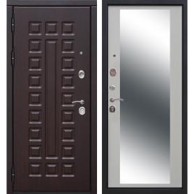 Дверь входная металлическая Сенатор 12 см, 960 мм, левая, цвет зеркало дуб сонома