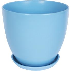 Горшок цветочный Бруннера ø26 h24 см v8.5 л керамика голубой