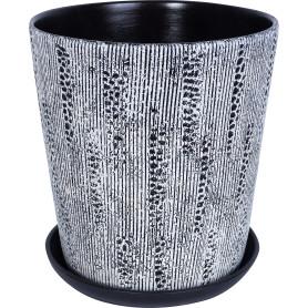 Горшок цветочный Клокс ø26 h27 см v8.5 л керамика белый/чёрный