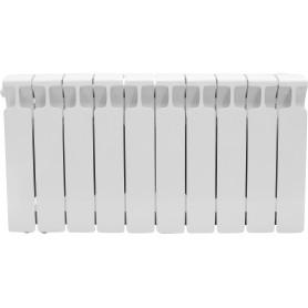 Радиатор Rifar Monolit, 10 секций, нижнее левое подключение, 350 мм, биметалл