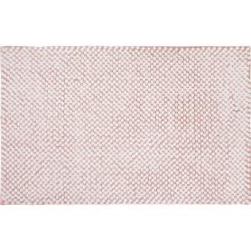 Коврик для ванной комнаты Lolly 50х80 см цвет белый/розовый