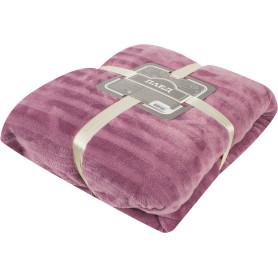 Плед «Milan», 180х200 см, фланель, цвет розовый