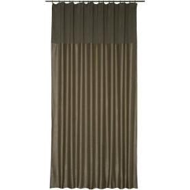Штора на ленте «Эльза», 200х320 см, цвет серый/бежевый