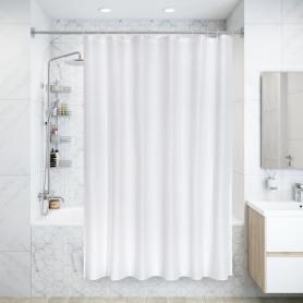 Штора для ванной Snow, 180x180 см, полиэстер, цвет белый