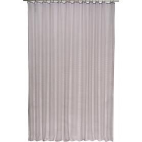 Тюль на ленте «Лён фентези», 400x300 см, цвет серый