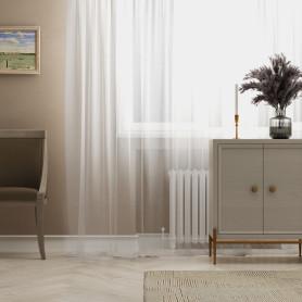 Тюль на ленте «Лён фентези», 400x300 см, цвет белый