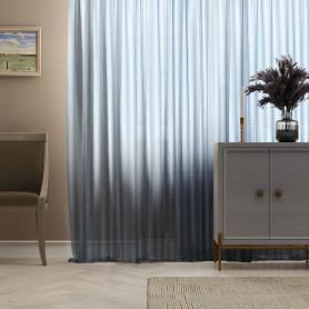Тюль на ленте «Лён Фентези», 400х300 см, цвет синий
