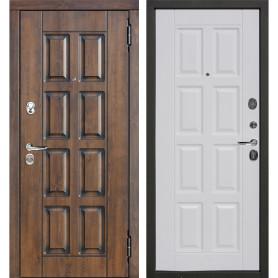 Дверь входная металлическая Мюнхен, 860 мм, правая, цвет белый винорит