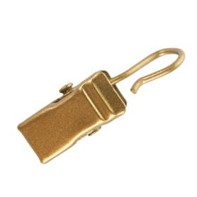 Крючок-зажим для штор, 3 см, цвет золото матовое, 10 шт.