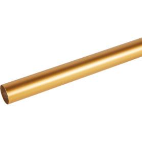 Штанга гладкая 20-160 см, сталь, цвет золото матовое