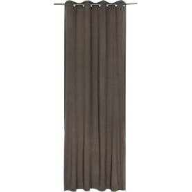 Штора с люверсами Jeanne Moon, 135х280 см, однотонный, цвет серо-коричневый