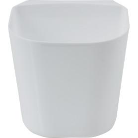 Контейнер навесной 13x12x13 см, пластик, цвет белый