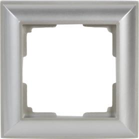 Рамка для розеток и выключателей Werkel Fiore 1 пост, цвет серебряный