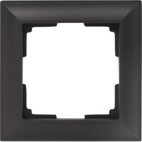 Рамка для розеток и выключателей Werkel Fiore 1 пост, цвет чёрный матовый