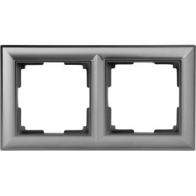 Рамка для розеток и выключателей Werkel Fiore 2 поста, цвет серебряный