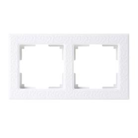 Рамка для розеток и выключателей Werkel Flock 2 поста, цвет белый