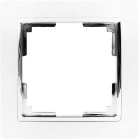 Рамка для розеток и выключателей Werkel Snabb 1 пост, цвет белый/хром