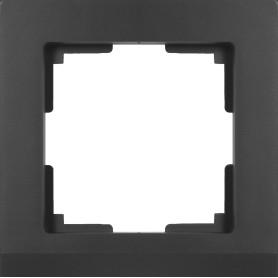 Рамка для розеток и выключателей Werkel Stark 1 пост, цвет чёрный матовый