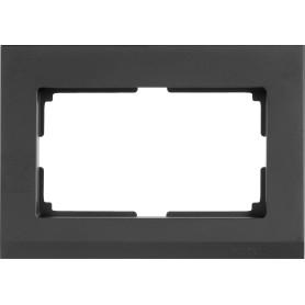 Рамка для двойных розеток Werkel Stark, цвет чёрный матовый