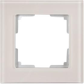 Рамка для розеток и выключателей Werkel Favorit 1 пост, стекло, цвет дымчатый
