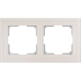Рамка для розеток и выключателей Werkel Favorit 2 поста, стекло, цвет дымчатый
