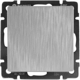 Выключатель встраиваемый Werkel 1 клавиша, цвет серебряный рифленый